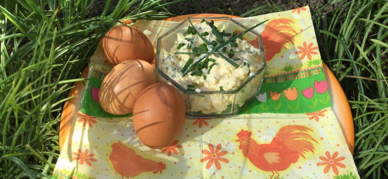 foto eiersalade met servet