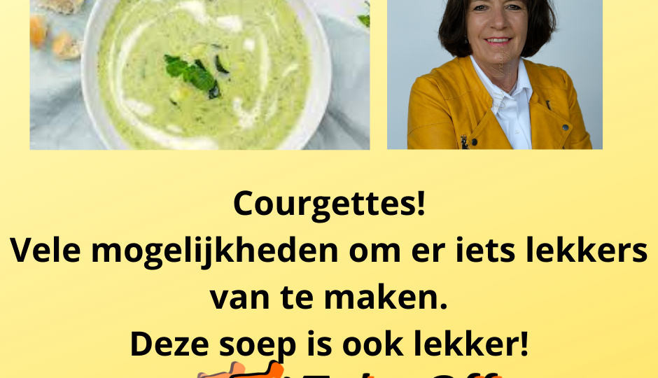 Courgettes soep