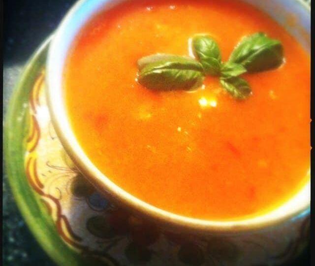 Paprika-pomodori-soep